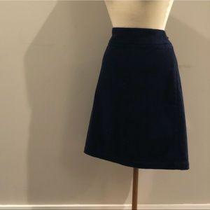 Talbots Navy Corduroy Skirt